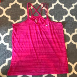 Nike Workout Tank Pink with Criss-Cross Sz S